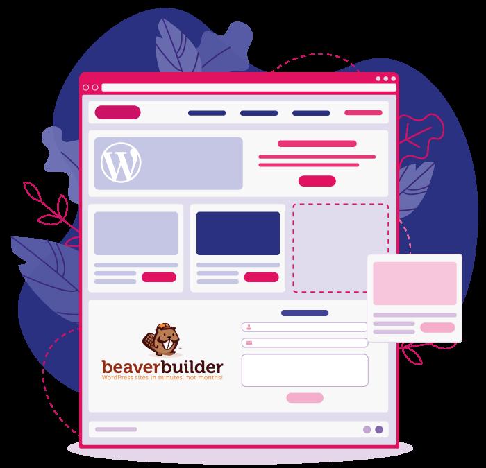 Website-Beaverbuilder-Wordpress-Illustratie